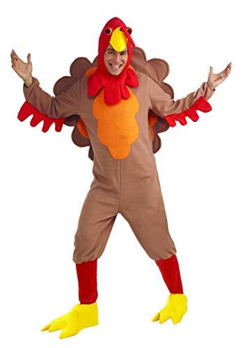 Thanksgiving Turkey Adult Mascot Costumes - Faerynicethings Adult Fleece Turkey Costume -