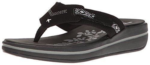 Skechers Modern Comfort Sandals Women's Upgrades Marina Bay Flip Flop Black/White, 8 M US by Skechers