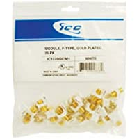 MODULE, F-TYPE, GOLD PLATED, 25 PK WHITE
