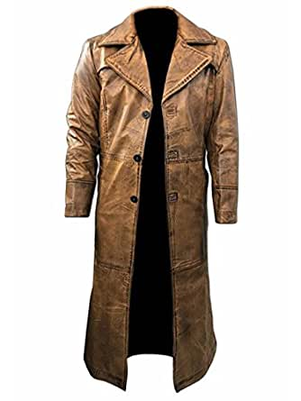 The Leather Makers Dawn of Justice Batman V Superman Distressed Leather Coat - Halloween Idea (m)