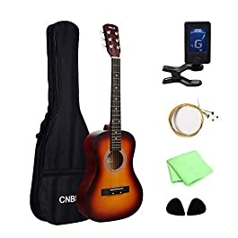 CNBLUE Acoustic Guitar 36 inch Beginner Classical Guitar for Kid 3/4 Size 6 Steel Strings Guitar Starter Kits with Gig…
