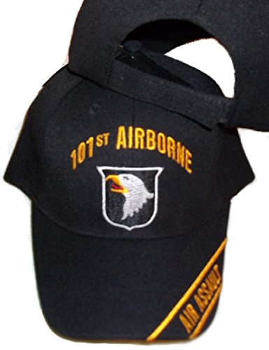 101st Airborne Air Assault Black Baseball Style Embroidered Hat Ball Cap Usa (101st Airborne Ball Cap)