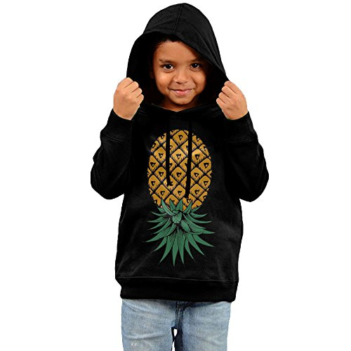 Price comparison product image Upside Down Pineapple Kids' Print Casual Pullover Drawstring Hoodie Hooded Sweatshirt 3 Toddler