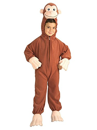 Rubie's Unisex-Child Curious George Costume, Monkey, -