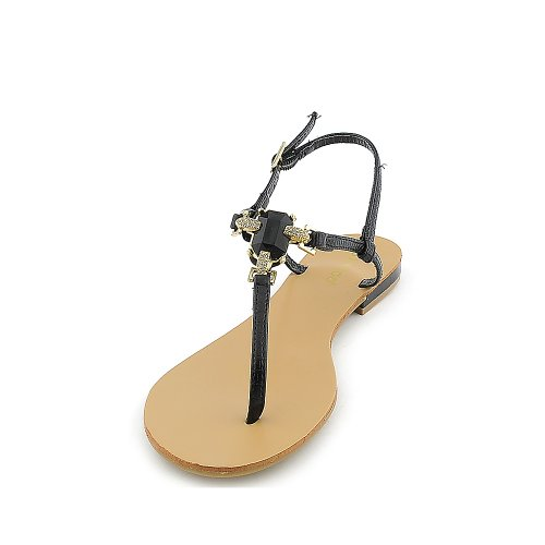 Bamboo Womens Bloom-72 Sandal Black ug2vM