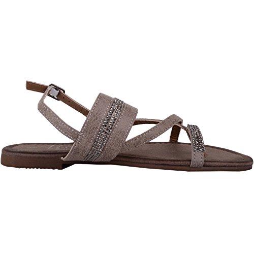 Design Casual Ferien mit Sommer Schuhe Damen Schuhe Sandalen Grau Absolute Diamonte ZqI1zq
