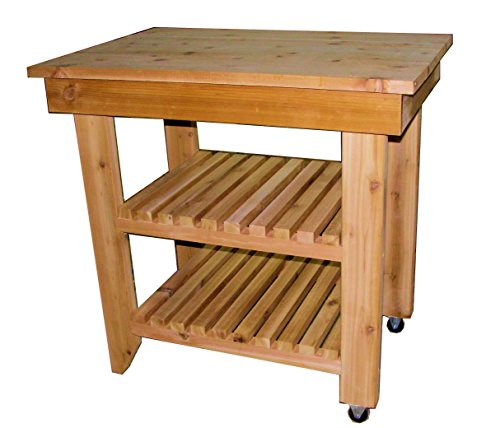 Kitchen Entertainment Utility Cart / Serving Cart, All Cedar Size 35 x 23 x 34 high - inches