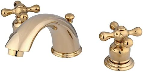 Elements of Design EB972X Widespread Lavatory Faucet With Cross Handle, Polished Brass