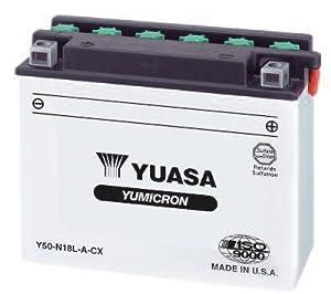 Yuasa Yumicron 12V Battery - YB16CL-B/Black