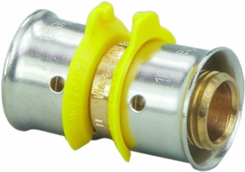 Viega 93065 PureFlow Zero Lead Bronze PEX Press Coupling with 1-Inch by 1-1/4-Inch Press x (Bronze Coupling)