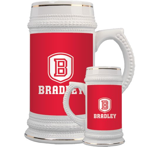 Bradley Full Color Decorative Ceramic Mug 22oz 'Official Logo' by CollegeFanGear