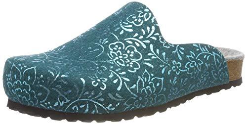 Lico Mujer Flower Azul petrol Bioline Petrol Clog Zuecos Para vw1vrq7