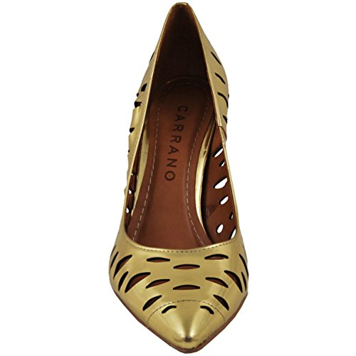 Pompa Da Donna In Pelle Taglio Laser Whitney Color Oro Carrano