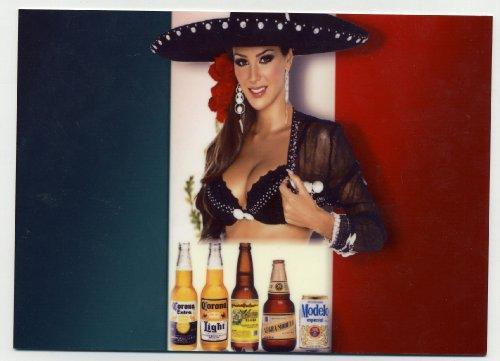 Sexy Sombrero Girl - Mexican Beer Sign - Corona Pacifico (Corona Mexican Beer)