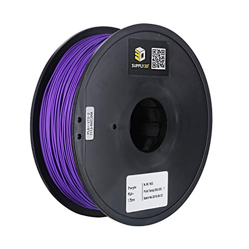 SUPLLY3D 1.75mm PLA Plus (PLA+) 3D Printer Filament 1KG Spool (2.2lbs) Purple
