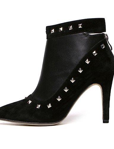Tacón black 5 us8 eu39 uk6 Zapatos Negro cn39 Puntiagudos cn38 uk5 Botas eu38 black Vestido uk6 black eu39 Stiletto mujer de XZZ Semicuero us8 cn39 us7 Tacones 5 qt7PgnAw
