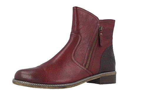 GABOR comfort-chaussures rouge bottines pour femme en matelas grande taille