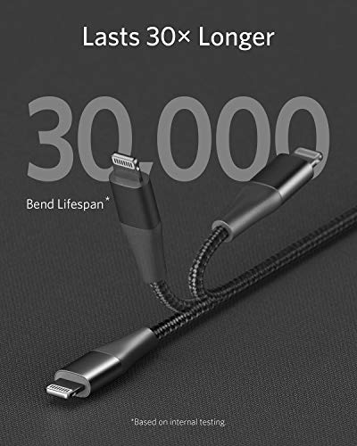 Anker iPhone 11 Charger, USB C to Lightning Cable [3ft Apple MFi Certified] Powerline+ II Nylon Braided Cable for iPhone 11/11 Pro/11 Pro Max/X/XS/XR/XS Max/8/8 Plus, Supports Power Delivery