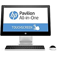 HP Pavilion 23 Inch Touchscreen FHD All-in-One Desktop (Intel Core i3-4170T 3.2GHz, 6GB RAM, 1TB HDD, Wifi, DVD, Windows 10 Home) (Certified Refurbished)
