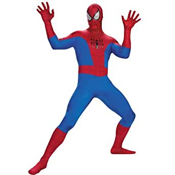 Disguise Marvel Unisex Adult Rental Teen Spider-Man, Blue/Red/Black, Medium (38-40) Costume
