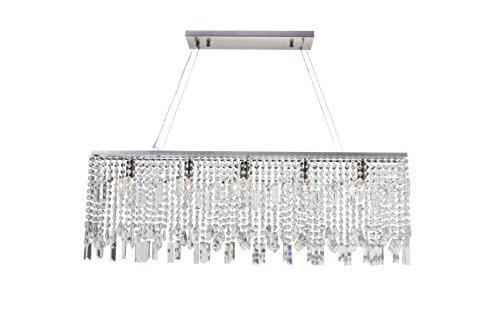 Sofia 40 Inch Crystal Chandelier, Brushed Nickel Finish - Sophia 6 Light Chandelier
