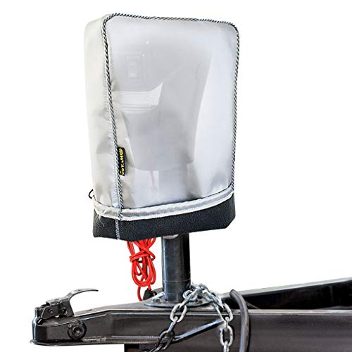 Mr.You Electric Tongue Jack Cover -Universal Fit for Most Trailer RV Electric Tongue Jack,with Thicker Cashmere Fabric Heavy Duty Waterproof No Tear No Fading(W5D10H14in)