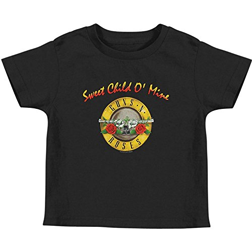 Bravado Girls T-shirt (Guns N' Roses - Sweet Child Toddler T-Shirt - 2T Black)