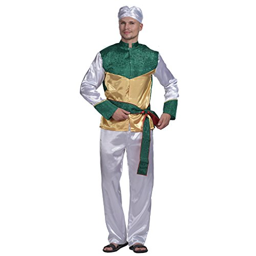 Bollywood Themed Party Costume (EraSpooky Men's Bollywood Star Halloween Costume(As Picture, OneSize))