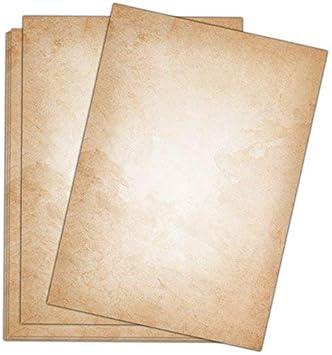 Motivpapier Briefpapier altes Papier History old antik 50 Blatt A4 ohne Werbung