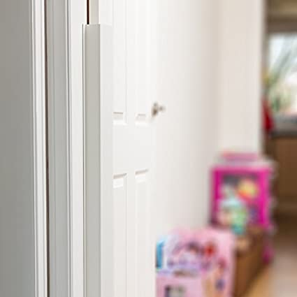 White Cardea Child Safety Door Finger Pinch Guard Hinge Protector for The Front of The Door 5 Pack *Suitable for Domestic USE ONLY*