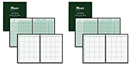 Ward 91018 Combination Record & Plan Book, 9-10 Weeks, 8 Periods/Day, 11 x 8-1/2 (HUB91018), 2 Packs