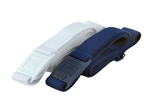 BeltawaySQUARE Adjustable Stretch Belt With No Show Square Buckle (One Size (0-14), White & Denim) by BELTAWAY (Image #7)