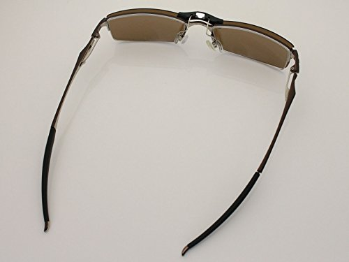 Custom Fit Polarized CLIP-ON Sunglasses For Oakley Halfshock OX3119 55X19 Brown by COODY (Image #4)