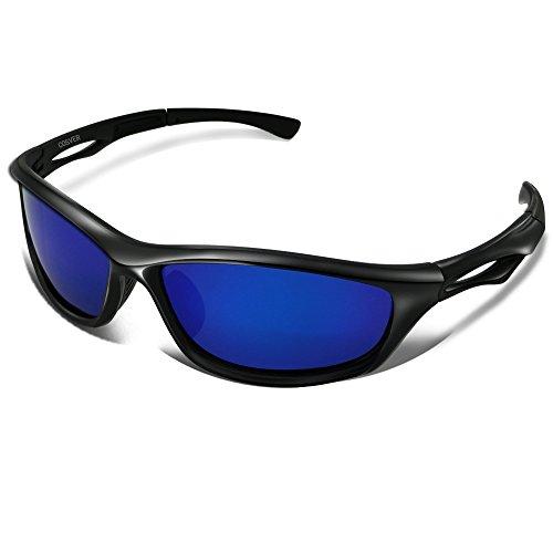 COSVER Mens Polarized Sports Sunglasses for Men Women Cycling Running Driving Fishing Golf Baseball Glasses TR088