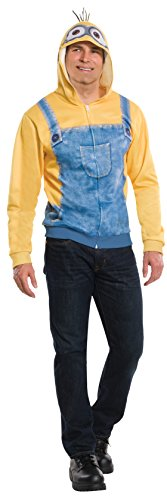 Minion Costume Women (Rubie's Costume Co Men's Minion Unisex Hoodie, Yellow, Large/Standard)
