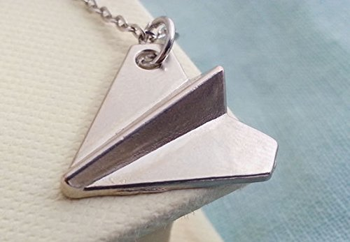 One Direction. Paper Airplane Necklace. Paper Airplane Pendant. Origami Airplane. Harry Styles Inspired Unisex Paper Airplane Necklace