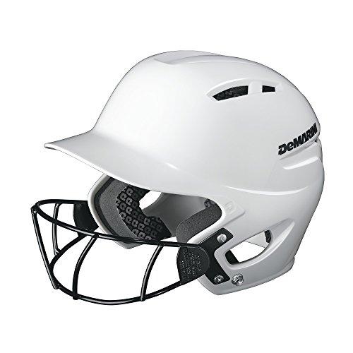 DeMarini Paradox Protege Pro Batting Helmet with Mask Small/Medium (6 3/8-7 1/8), White, Small/Medium (6 3/8-7 1/8)