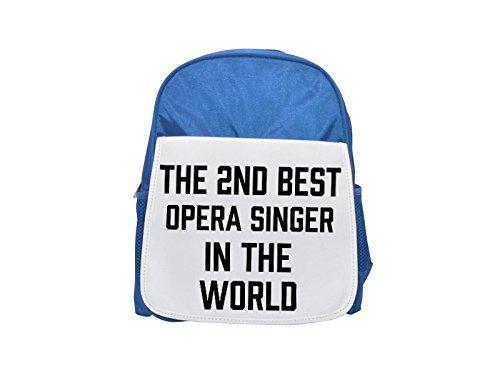 THE 2ND BEST Opera Singer IN THE WORLD printed kid's blue backpack, Cute backpacks, cute small backpacks, cute black backpack, cool black backpack, fashion backpacks, large fashion backpacks, black fa