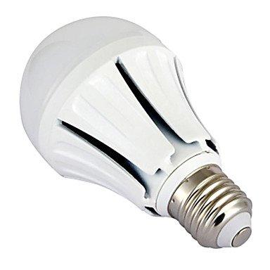 BuW Dimmable E27 9W 18X5730SMD 780LM 2700-3200K Warm White Light LED Ball Bulb (AC220-240V,White)led light bulbs led desk lamp led lights for home lights for kitchen