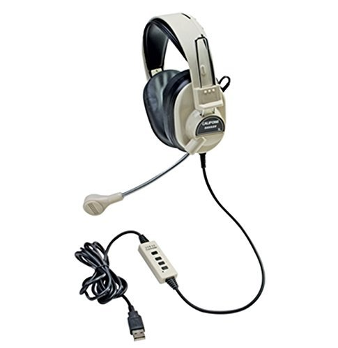 Deluxe Multimedia Stereo Headset (New - Califone 3066-USB Multimedia Headset With Mic)