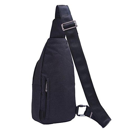 Shoulder Shoulder Bags black Sling Cycling Shoulder Messenger Gray Bag E402 Man Chest 1 Egogo Bag Backpack Sports Gym 1C54qq
