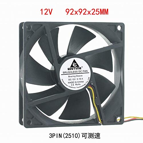 REFIT DC 12V 9CM cm cm 92mm 92x25 Motherboard 3pin Speed brushless Cooling Fan