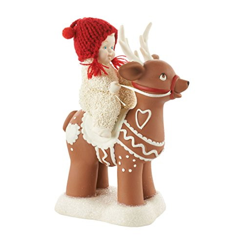 Department 56 Snowbabies Ride Em Reindeer Porcelain Figurine, 6