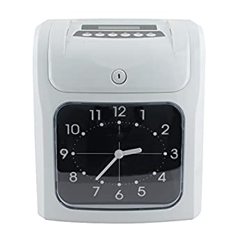 genmine electronic employee time recorder time punch clock attendance time payroll recorder machine big lcd analog - Time Card Machine