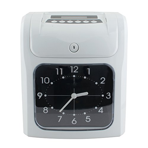 Genmine Electronic Employee Time Recorder Time Punch Clock Attendance Time Payroll Recorder Machine Big LCD Analog Clock w/Card Monthly/Weekly/Bi-weekly For Small Business (SHIPPING FROM (Payroll Data Time Recorders)