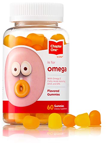 Chapter One Omega 3 Gummies, Chewable Omega Gummies with DHA & EPA, Certified Kosher, 60 Flavored Gummies