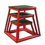 Red Plyometric Platform Box (12, 18, 24'' Red)