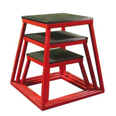 Red Plyometric Platform Box (12, 18, 24'' Red) by Ader Sorting goods