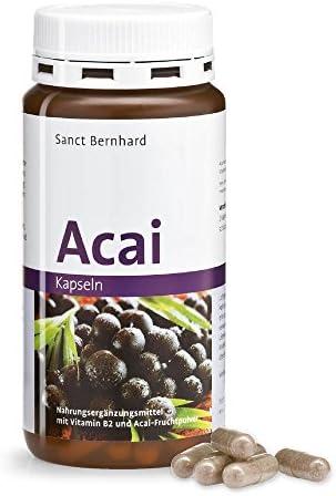 Sanct Bernhard Acai-Kapseln 500 mg Acai-Fruchtpulver, Inhalt 180 Kapseln
