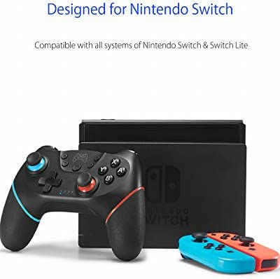 Switch Controller, Wireless Pro Controller for Switch Remote Gamepad with Joystick, Adjustable Turbo Vibration, Ergonomic Non-Slip